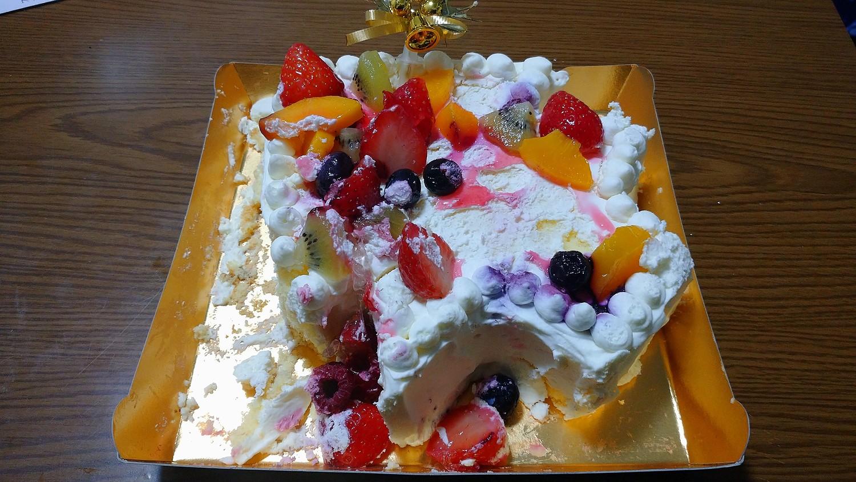 ケーキぐっちょり